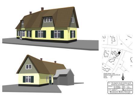 3D tekening buitenzijde villa