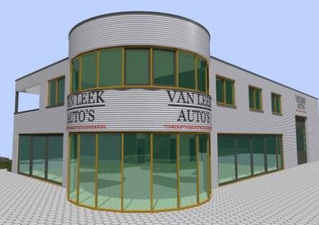 Bedrijfsgebouw 3D modelling
