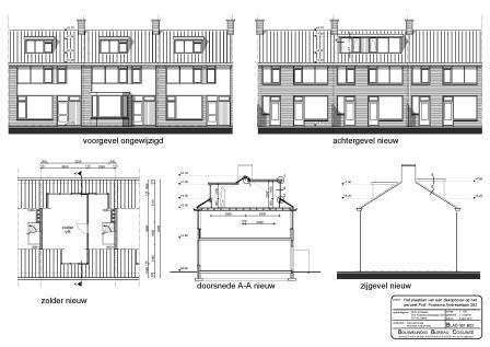 Bouwtekening nieuwe dakopbouw