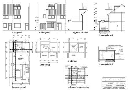 Tekening door bouwkundig tekenaar
