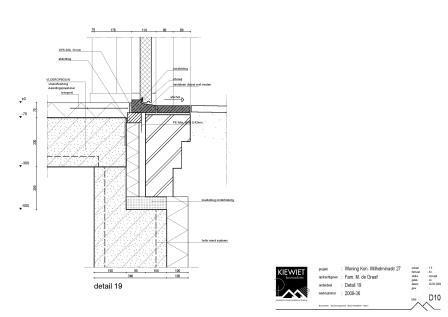 Detail tekening door bouwkundig bureau