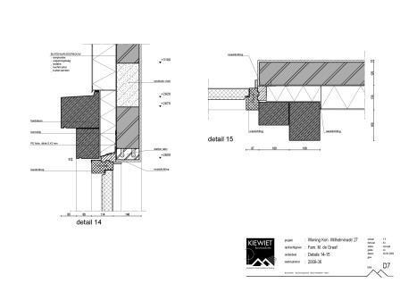 Detail tekening nieuwbouw woonhuis