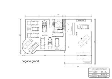 Plattegrond bedrijfsgebouw door Bouwkundig Tekenbureau Cosijnse