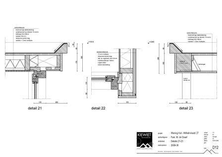 Tekening met details woonhuis